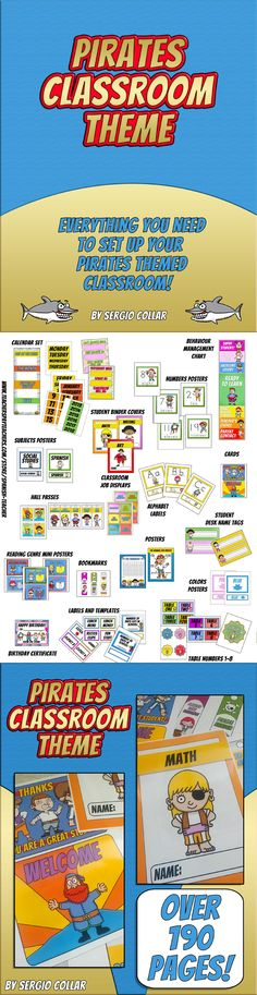 Pirates - Classroom Theme - Labels signs and much more!    Everything you need to set up your PIRATES themed classroom!