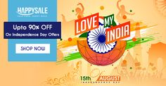 This #IndependenceDay, Celebrate The #FREEDOM Of Your Choice! Get Upto 90% OFF. https://happysale.in/independence-day-offers/