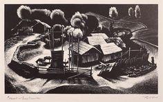 Lynd Ward (1905-1985) - The Corral (Tres Cumbres), 1953