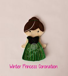 Winter princess felt paper doll, pretend play, quiet play, imaginary play, travel toy, felt non paper doll, by LucyandLyla on Etsy