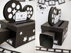 Box but wedding, box but cinema, box but personalized, box but the camera . Movie Theater Party, Cinema Party, Movie Night Party, Hollywood Birthday Parties, Hollywood Theme, Movie Themes, Party Themes, Deco Cinema, Cinema Box
