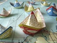 idea: Age of Exploration ships on world map Crafts For Kids, Arts And Crafts, Paper Crafts, Summer Crafts, Paper Artist, How To Make Paper, Nautical Theme, Paper Goods, Summer Fun