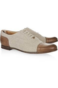 Deborah linen and leather brogues | Church's | THE OUTNET