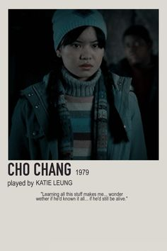 minimalist character polaroid cho chang poster (2007) - cho chang, katie leung, ravenclaw, 1979 Harry Potter Movie Posters, Harry Potter Cards, Harry Potter Characters, Harry Potter Hogwarts, Hp Movies, Iconic Movies, Daniel Radcliffe Emma Watson, Katie Leung, Harry Potter Scrapbook