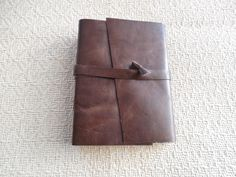 Brown Distressed Leather Journal by artfuladdie on Etsy