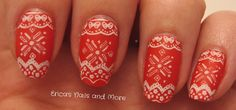Christmas nail stamping | Erica's Nails and More