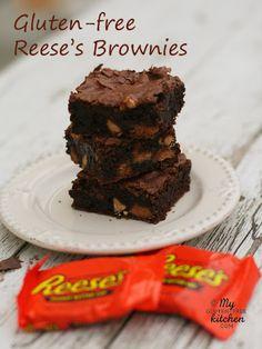 Reese's Brownies {Gluten-free}