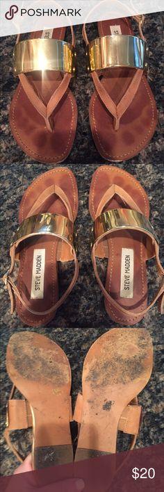 Steve Madden Cufff Sandals Cognac Sz 5 Steve Madden Cufff Sandals Cognac Sz 5 Steve Madden Shoes Sandals