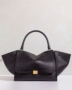CELINE TRAPEZE SHOULDER BAG IN STAMPED EXOTIC CALFSKIN ALL CAPS Celine Belt  Bag 00d539fe2cb00