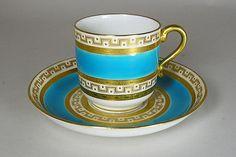 Šálek s podšálkem •Tiffany malovaný porcelán Demitase