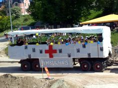 Student parade 2012, Visby, Sweden.