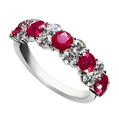Обручальные кольца с рубином фото 1