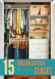 When it comes to organizing your closet, it can seem like a never-ending battle. It is something that can be tackled, but you do have to keep it up, to maintain your organized closet. Here are 15 organization ideas for your closet.