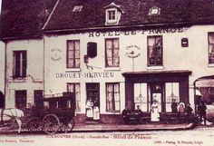 tourouvre france | sortie des ouvriers de la verrerie et l'hôtel de France