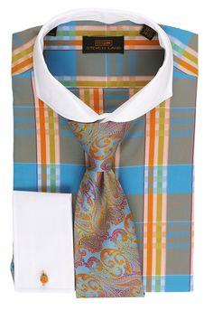 Steven Land Dress Shirt DS1568 | Orange. Available now $69 #StevenLand #SpringCollection