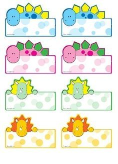 Cute Name Labels Template The 5 Secrets About Cute Name Labels Template Only A Handful Of People Know cute name labels template Dino Name Tags for Your Little Paleontologists Preschool Name Tags, Dinosaurs Preschool, Dinosaur Activities, Dinosaur Crafts, Ben E Holly, Name Tag For School, Dinosaur Classroom, Name Tag Templates, Dinosaur Pictures