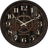 "Found it at Wayfair - 12"" Industrial Gears Wall Clock"
