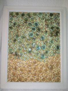 Beachy art...made from glass gems from the Dollar store