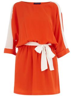 Orange block color dress $35