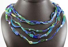 Loving it. Multi-strand freeform necklace via SaturdaySequins Blog