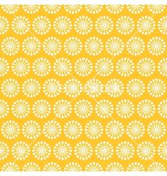 Vintage different seamless pattern endless vector retro daisy - by Kannaa on VectorStock®