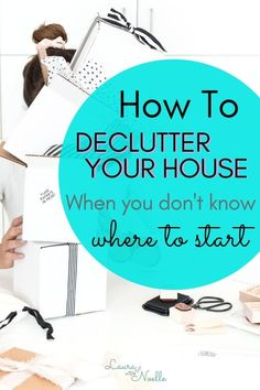 The most challenging part of decluttering is getting started. Learn 6 simple steps for how to declutter your house when you don't know where to start! Bedroom Organization Diy, Life Organization, Getting Rid Of Clutter, Declutter Your Life, Home Fix, Organizing Your Home, Organizing Ideas, Decluttering Ideas, Organisation Ideas