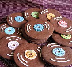 Cookies em formato de vinil