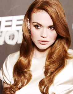Love the hair color with green eyes!