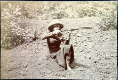 Lever-action rifle, c. 1900.