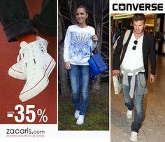 Zapatillas #converse más que una moda. Altas o bajas, las preferidas de los famosos. Ahora en #rebajas hasta -35% #mujer #hombre #niños https://www.zacaris.com/converse.htm