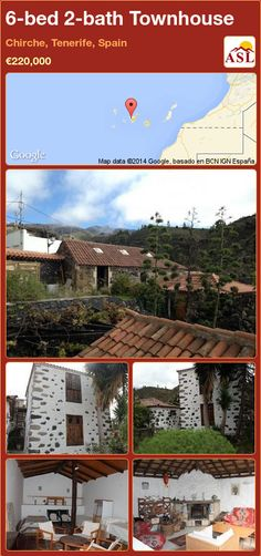 Townhouse for Sale in Chirche, Tenerife, Spain with 6 bedrooms, 2 bathrooms - A Spanish Life Tenerife, Townhouse, Spanish, Bath, Building, Life, Beautiful, Terraced House, Buildings