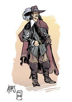 Athos, the noble by MrHarp.deviantart.com on @DeviantArt