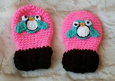 Thumbless baby mittens - Owl - Baby mittens - Newborn mittens - Baby gloves - Winter mittens - Crochet mittens - Kids mittens - Baby girl by bellafarfallaboutiqu. Explore more products on http://bellafarfallaboutiqu.etsy.com