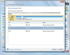 migrate Windows to SSD select ssd
