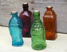 203 Best Color Glass Bottles Images Coloured Glass Colored Glass