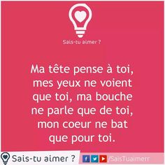 Si tu as un doute . Very Best Quotes, Love Quotes, Inspirational Quotes, Deep Quotes, Just Love, Peace And Love, Keep Looking Up, Messages For Him, Tu Me Manques