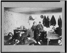 [Interior of Chinese lodging house (opium den?), San Francisco, California]