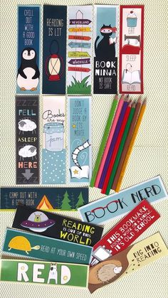 Free Printable Bookmarks - 15 Bookmarks From WeAreTeachers Discover free & Bargain Books daily at Bookmarks Quotes, Paper Bookmarks, Watercolor Bookmarks, Bookmarks Kids, How To Make Bookmarks, Crochet Bookmarks, Reading Bookmarks, Corner Bookmarks, Free Printable Bookmarks