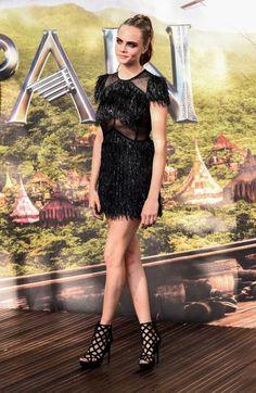 Cara Delevingne at the Pan premiere.