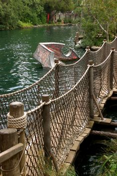 Pirate's Lair on Tom Sawyer Island at Disneyland I loved going across this as a girl!
