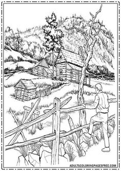 With this free countryside atmosphere adults coloring pages, I hope you will get the best and fresh nature feeling who can bring coolness and comfort