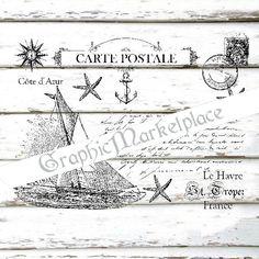 Carte Postale Sailing St. Tropez Havre by GraphicMarketplace