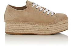 MIU MIU Suede Platform Espadrille Sneakers. #miumiu #shoes #sneakers