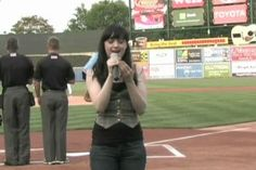 I had NO CLUE the national anthem had four verses. This girls sings them all and shocks the whole stadium!