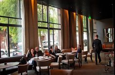 The bar at Quince Restaurant in San Francisco, Calif.