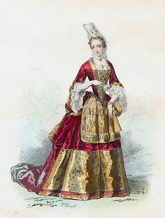"""""""Duchesse"""", Bonnart, 1693; Antique Prints"""