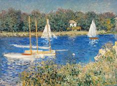 The Seine at Argenteuil, 1874 by Claude Monet. Impressionism. landscape