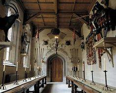 There is an abundance of armoury in the castle...