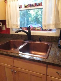 SINKOLOGY Raphael Drop-In Handmade Pure Solid Copper 33 in. 4-Hole Double Bowl Kitchen Sink in Antique Copper KDF-3322AH at The Home Depot - Mobile