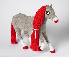 Red-Heeled Sock HORSE - TOYS, DOLLS AND PLAYTHINGS